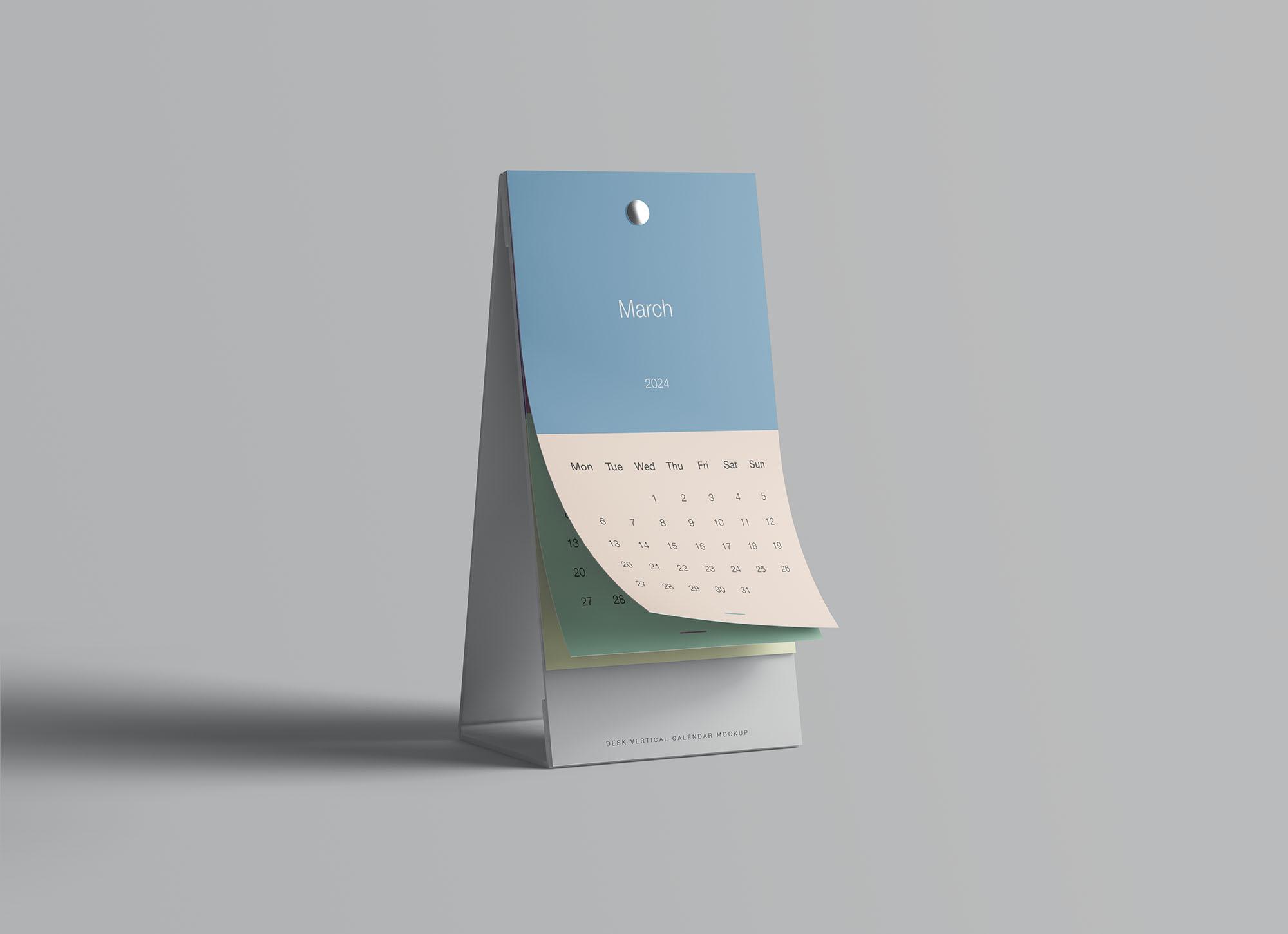 Vertical Calendar Mockup 6