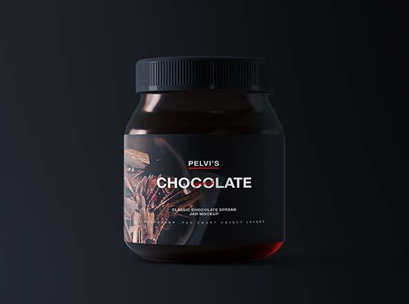 Chocolate Jar Mockup
