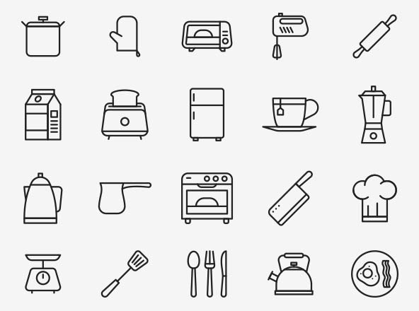 Kitchen Vector Icons