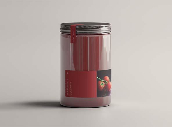 Tomato Jar Mockup