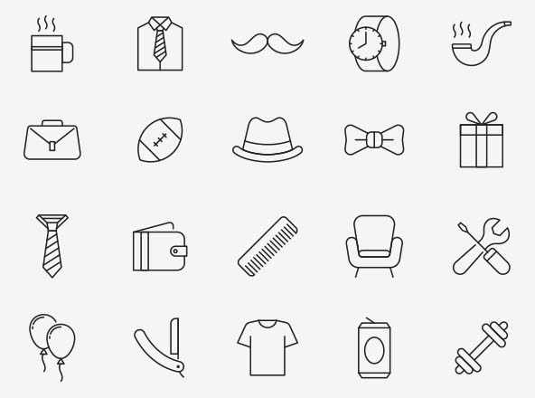 Fathers Day Vector Icons