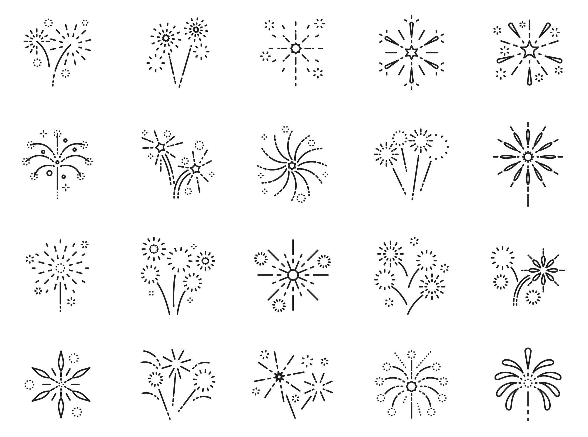 Fireworks Vector Icons