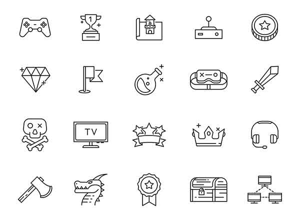 Gaming Vector Icons