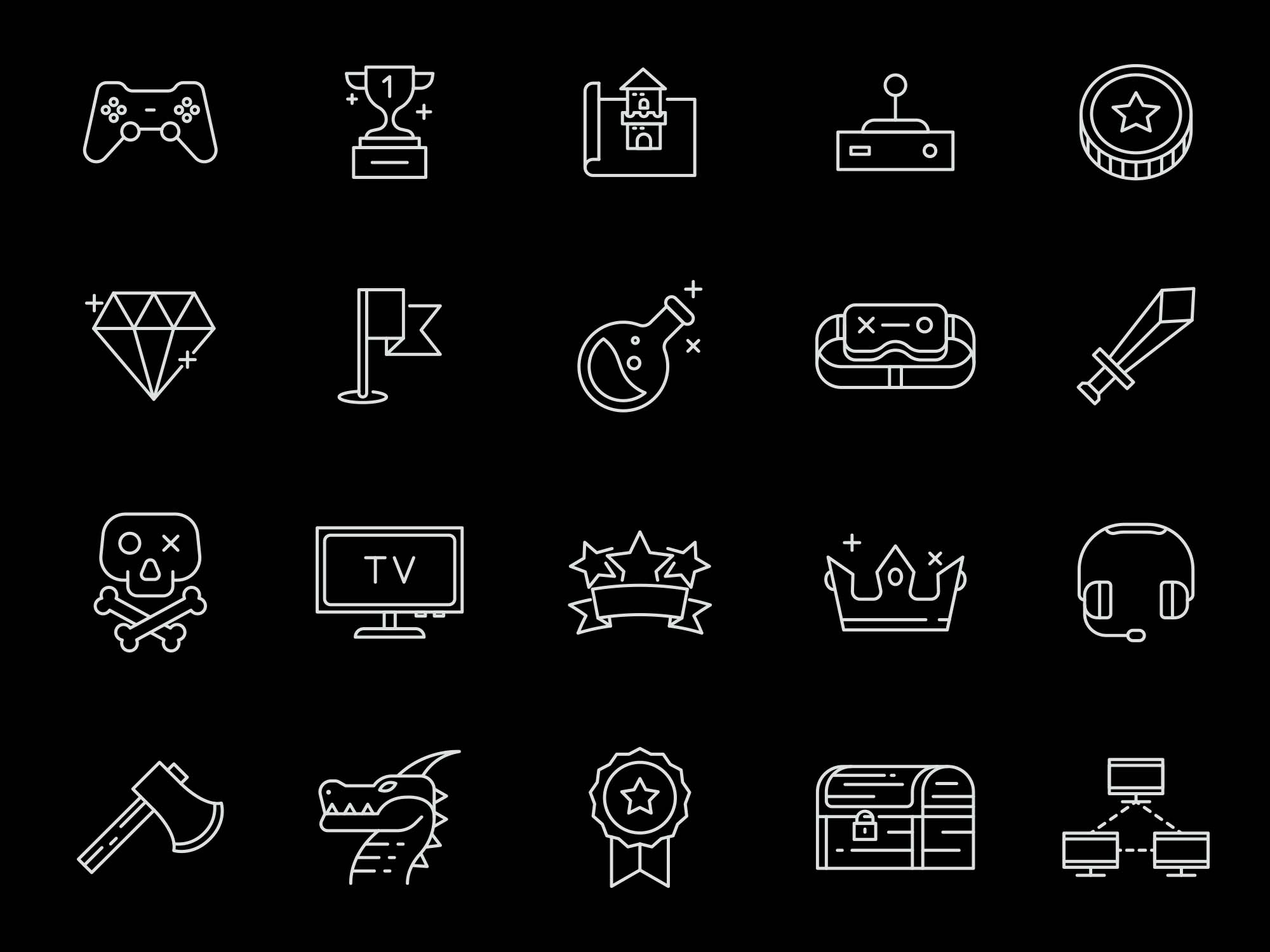 Gaming Vector Icons 2