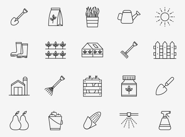 Horticulture Vector Icons