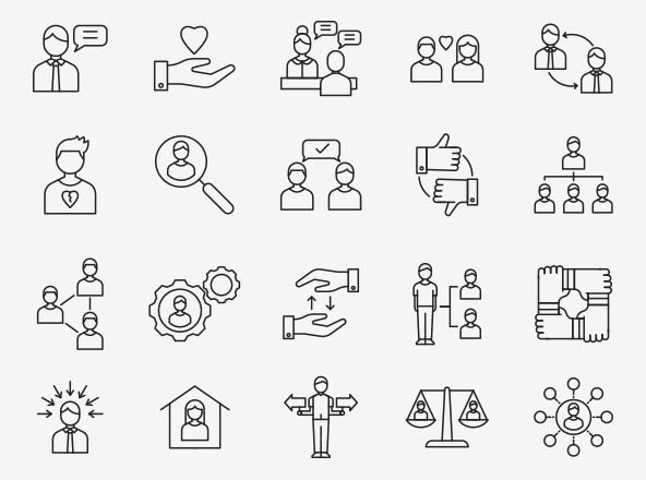 Human Relation Vector Icons