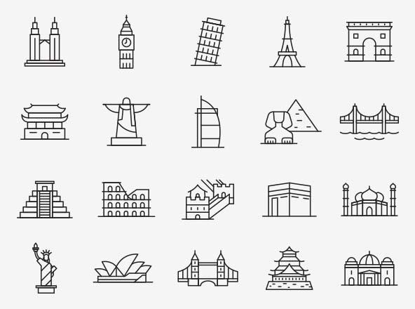 Landmark Vector Icons