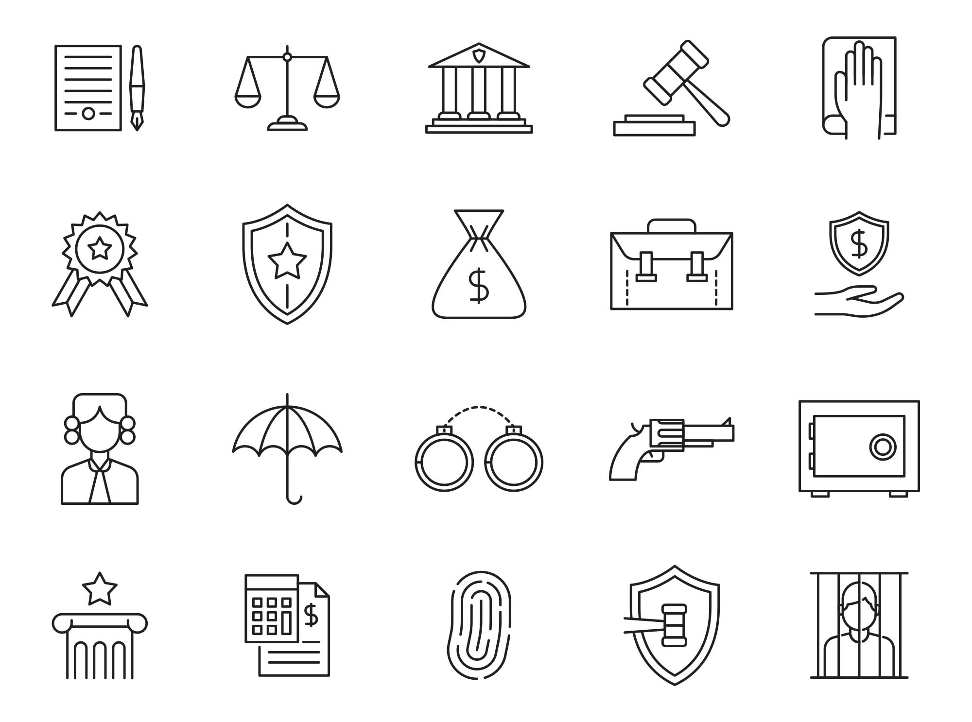 Law Vector Icons