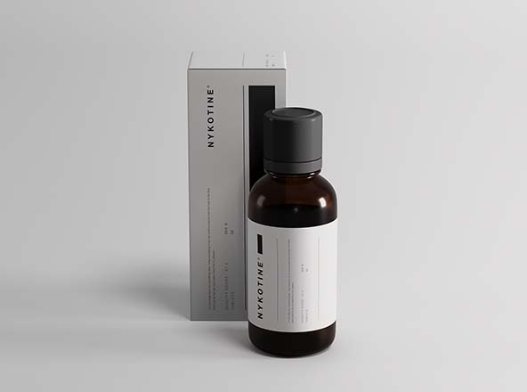 Medicine Bottle and Box Packaging Mockup