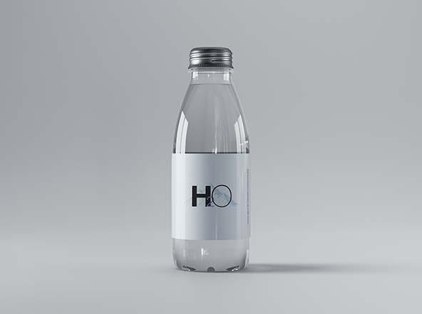 Mini Glass Water Bottle Mockup
