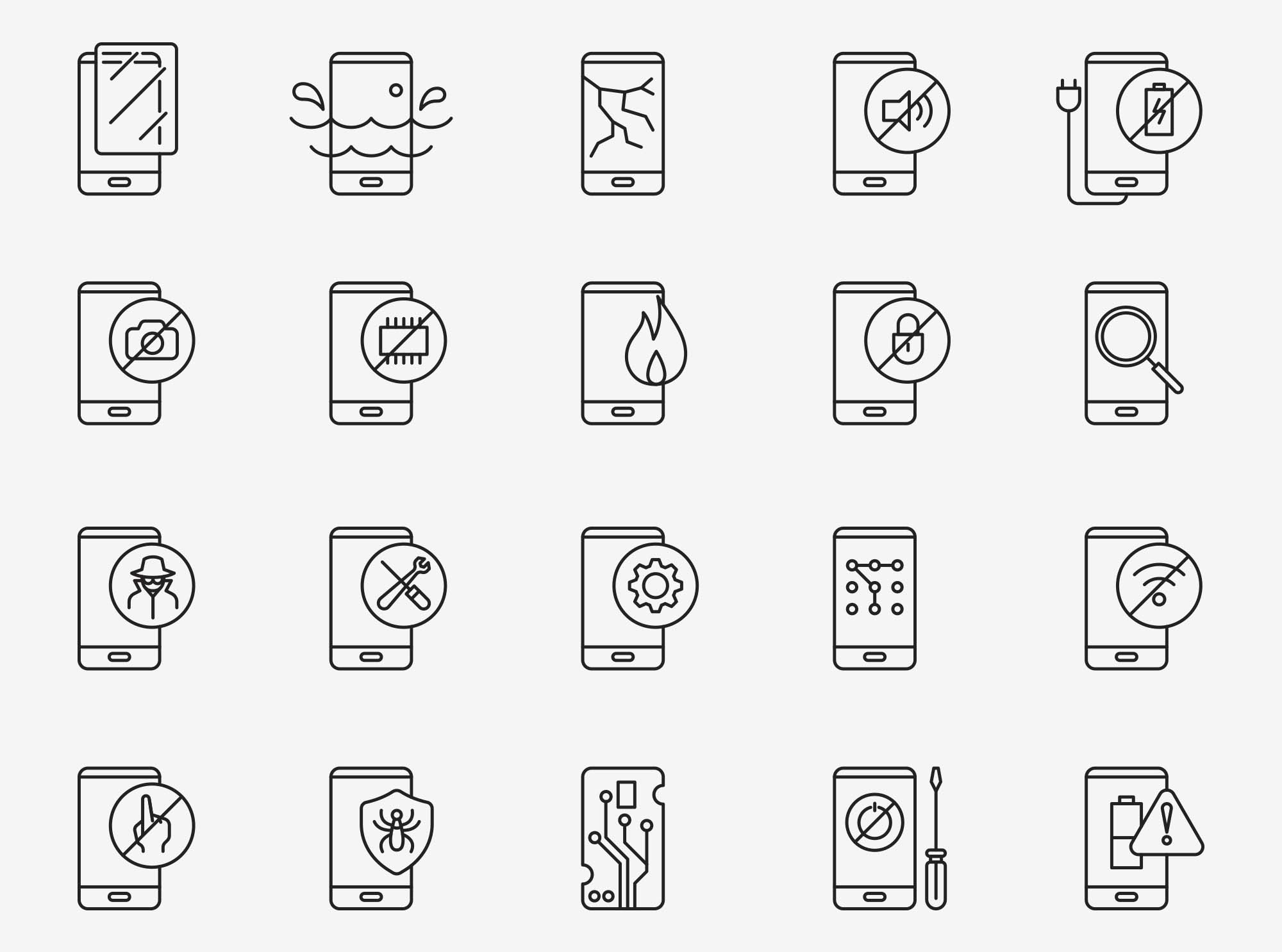 Mobile Fix Vector Icons