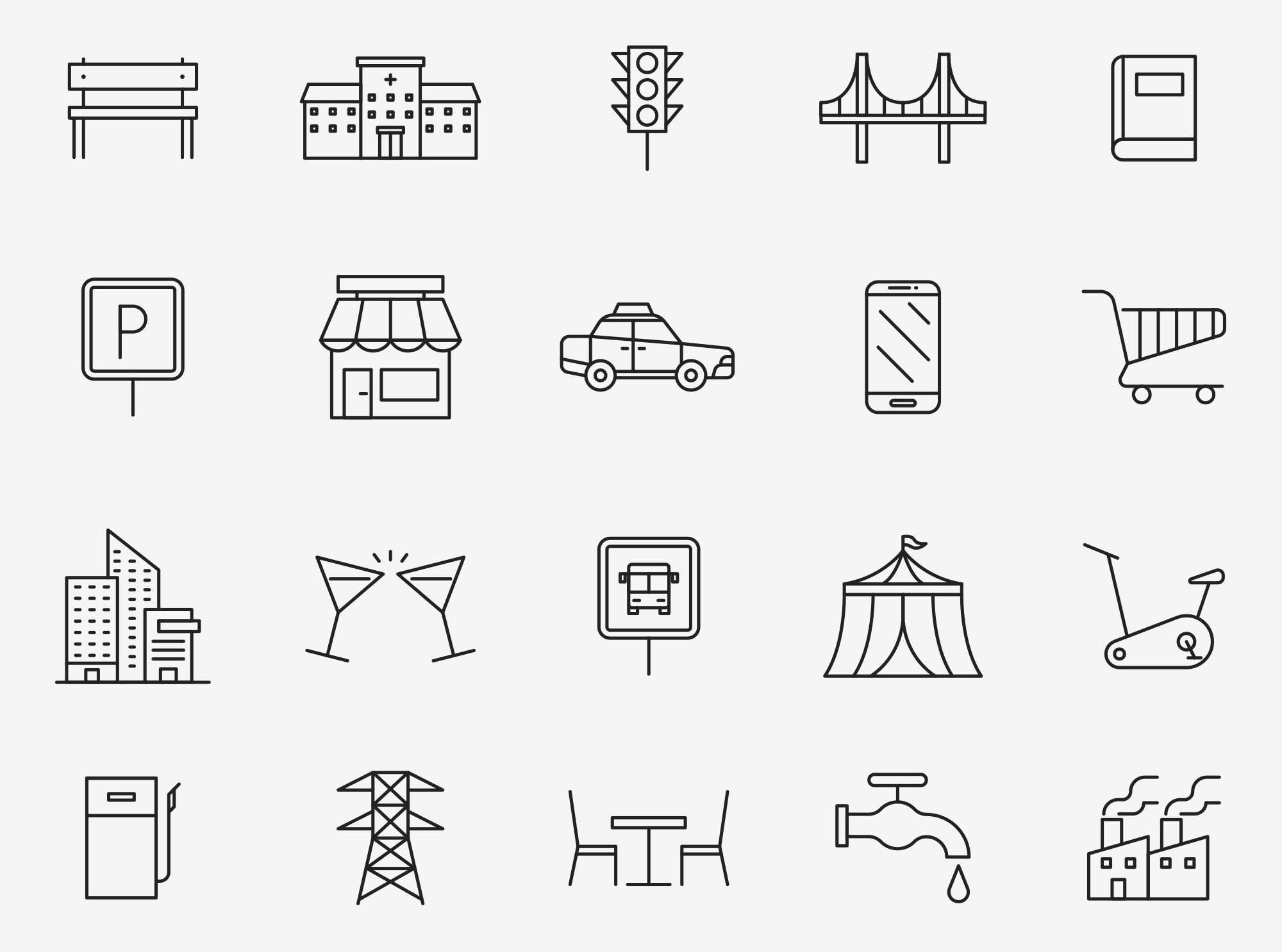 Urban Vector Icons