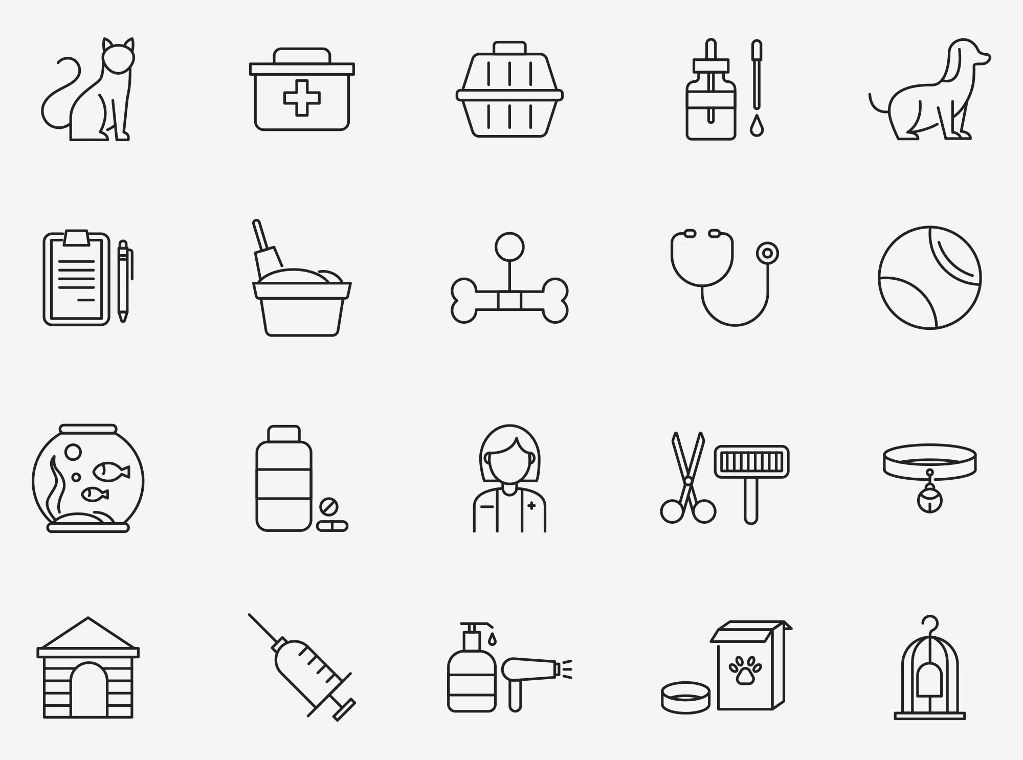 Veterinary Vector Icons