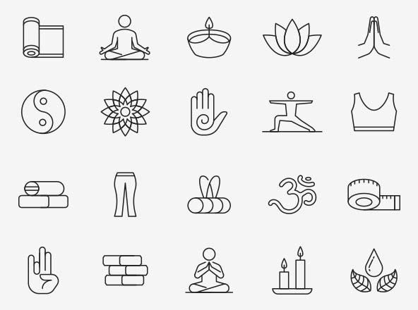Yoga Vector Icons