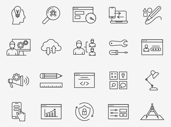 Design and Development Icons Part 01