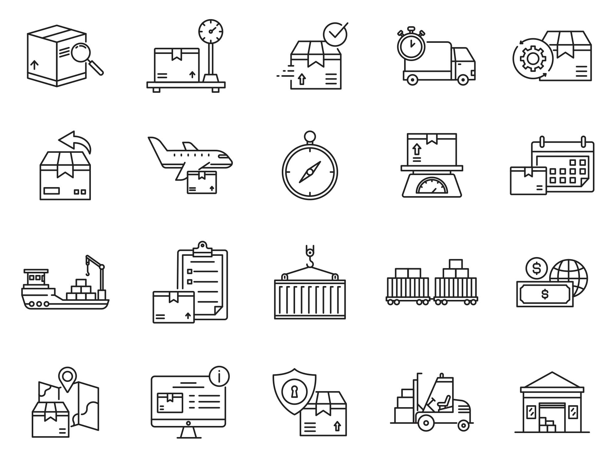 Logistic Vector Icons Part 01