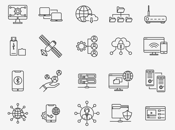 Networking Vector Icons