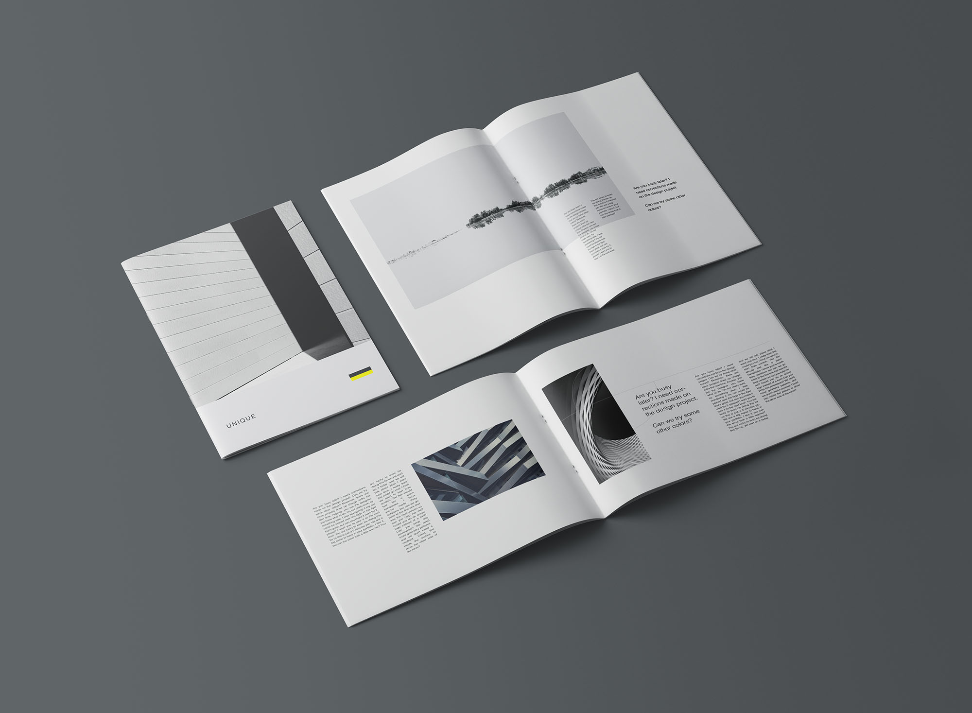A4 Portrait & Landscape Brochure Mockup 4