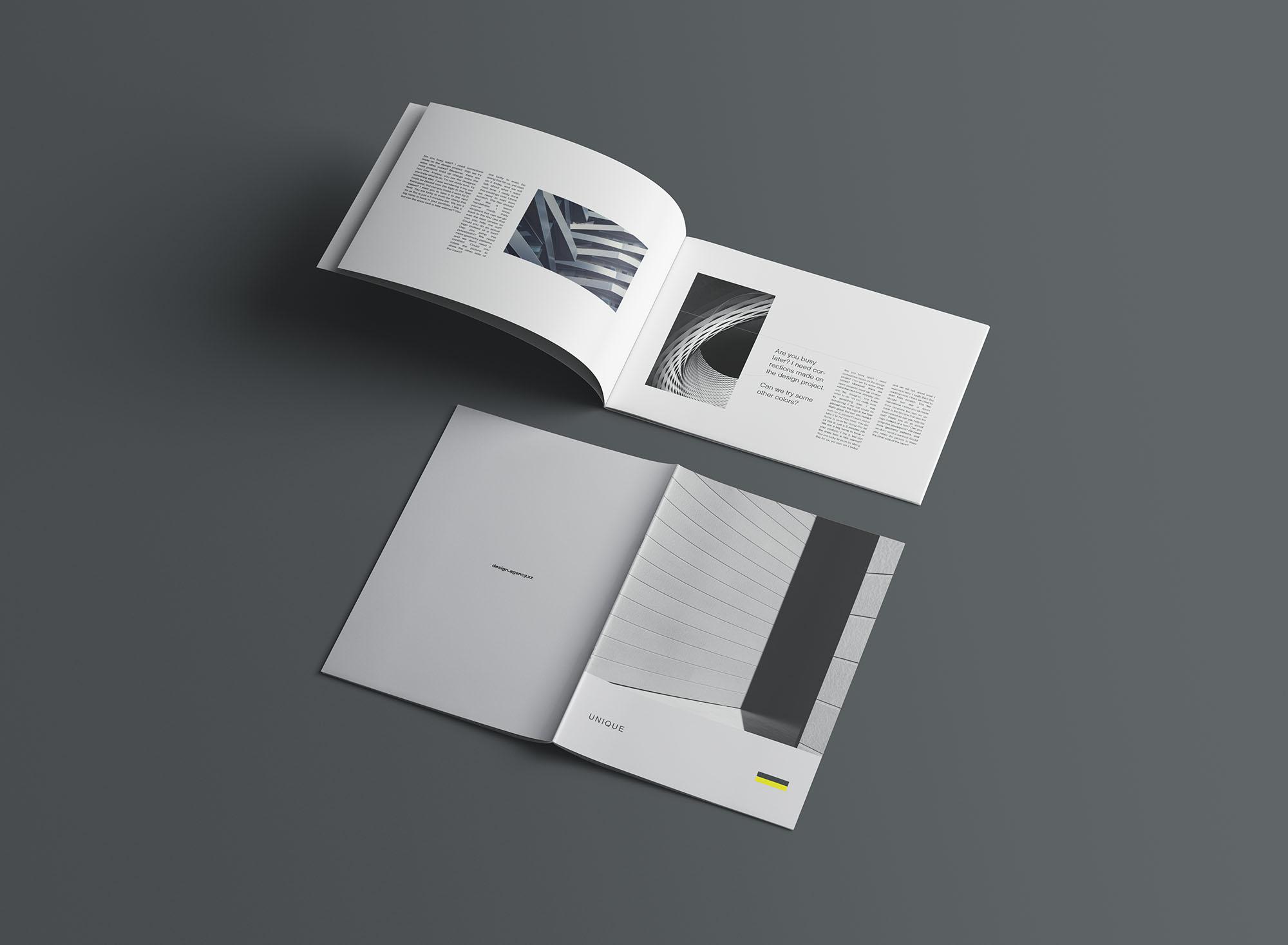 A4 Portrait & Landscape Brochure Mockup 5