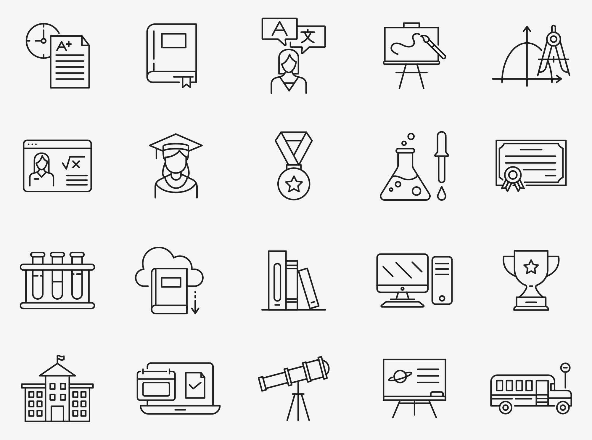 Education Vector Icons Part 01