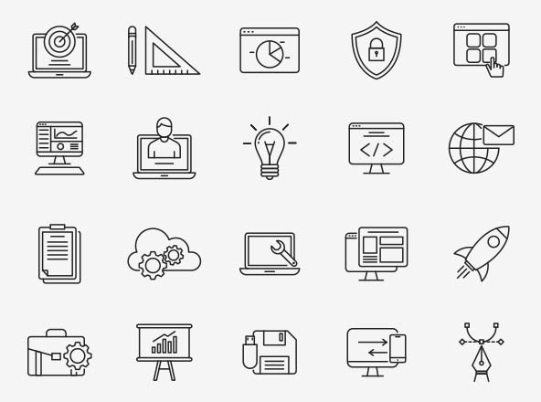 Design & Development Icons Part 03