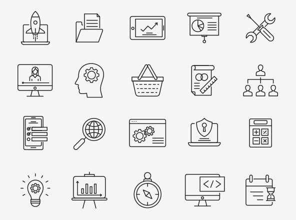Design & Development Icons Part 04