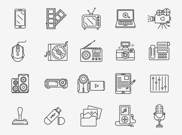 Multimedia Vector Icons Part 02