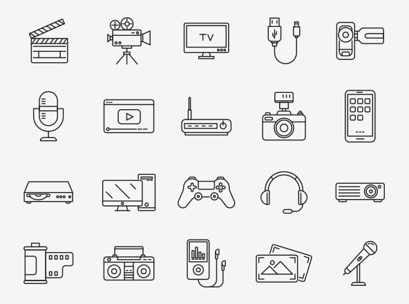 Multimedia Vector Icons Part 04