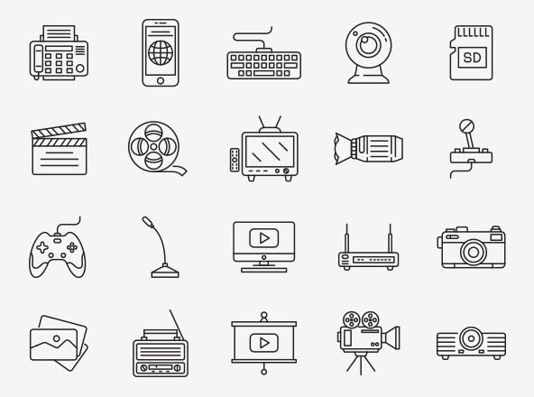 Multimedia Vector Icons Part 01