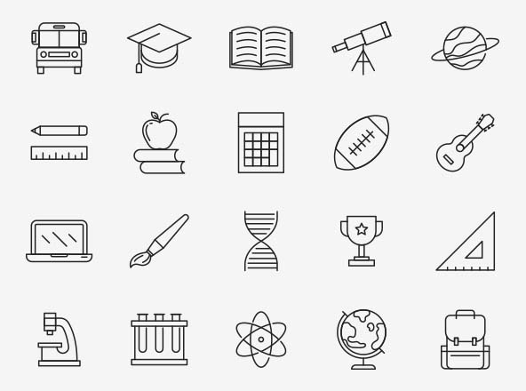 Education Vector Icons Part 03