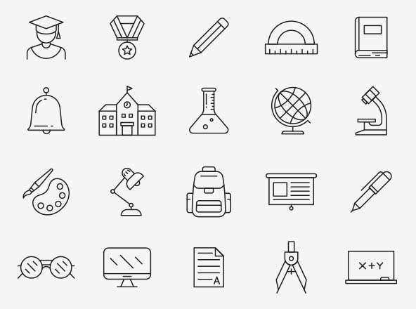 Education Vector Icons Part 04