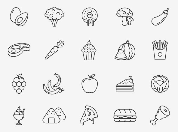 Food Vector Icons Part 06