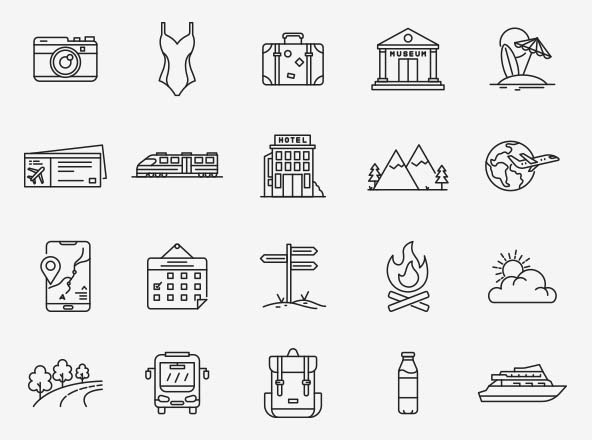 Travel Vector Icons Part 01