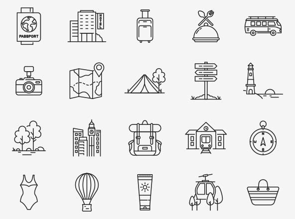 Travel Vector Icons Part 02
