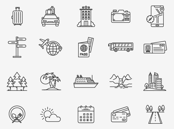 Travel Vector Icons Part 03