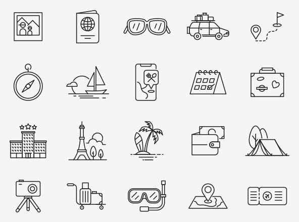 Travel Vector Icons Part 04