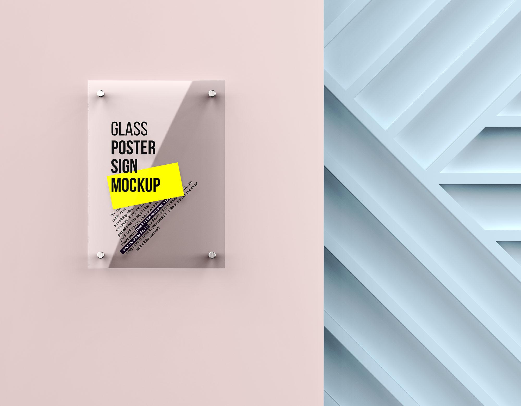 Glass Poster Mockup 2