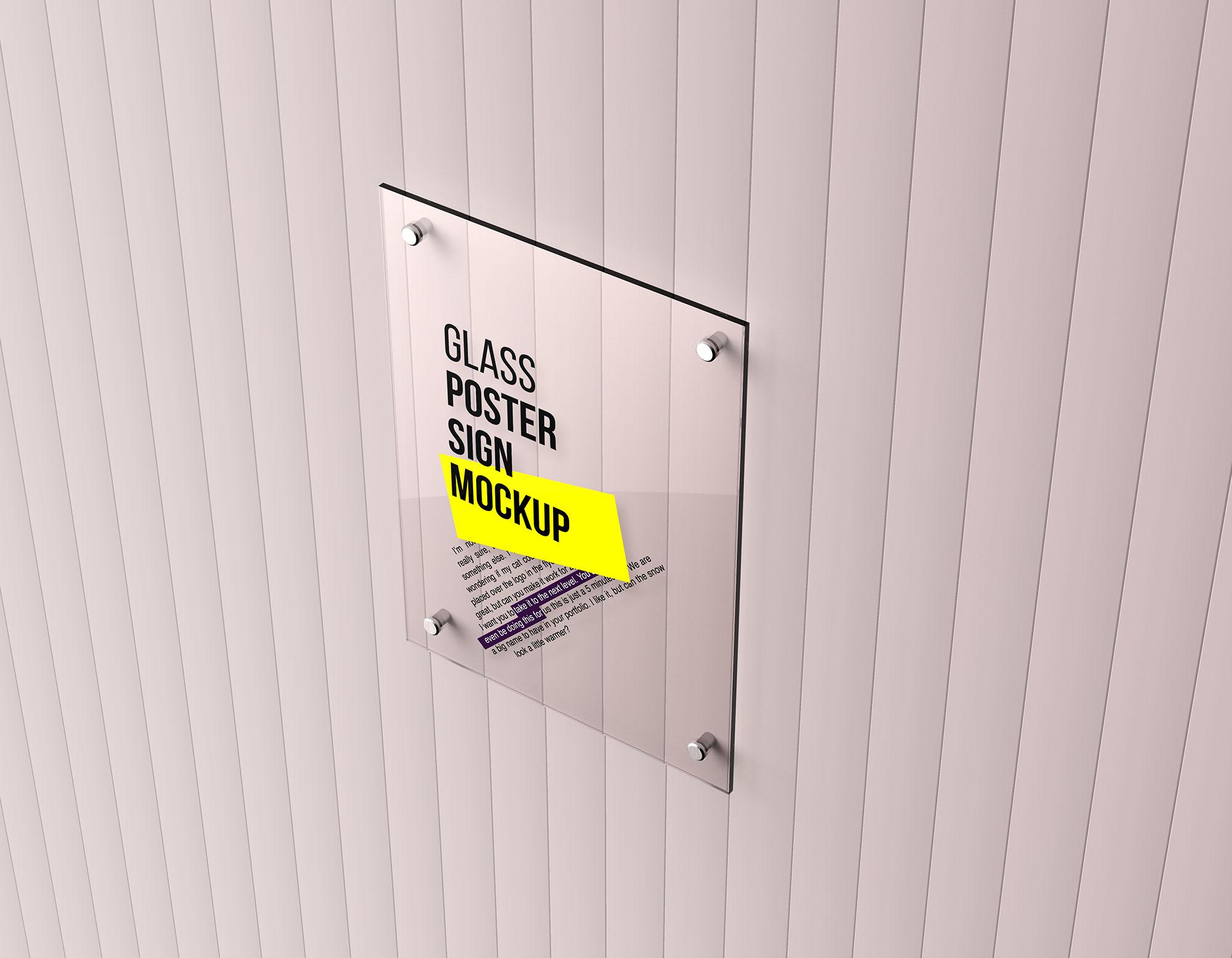Glass Poster Mockup 6
