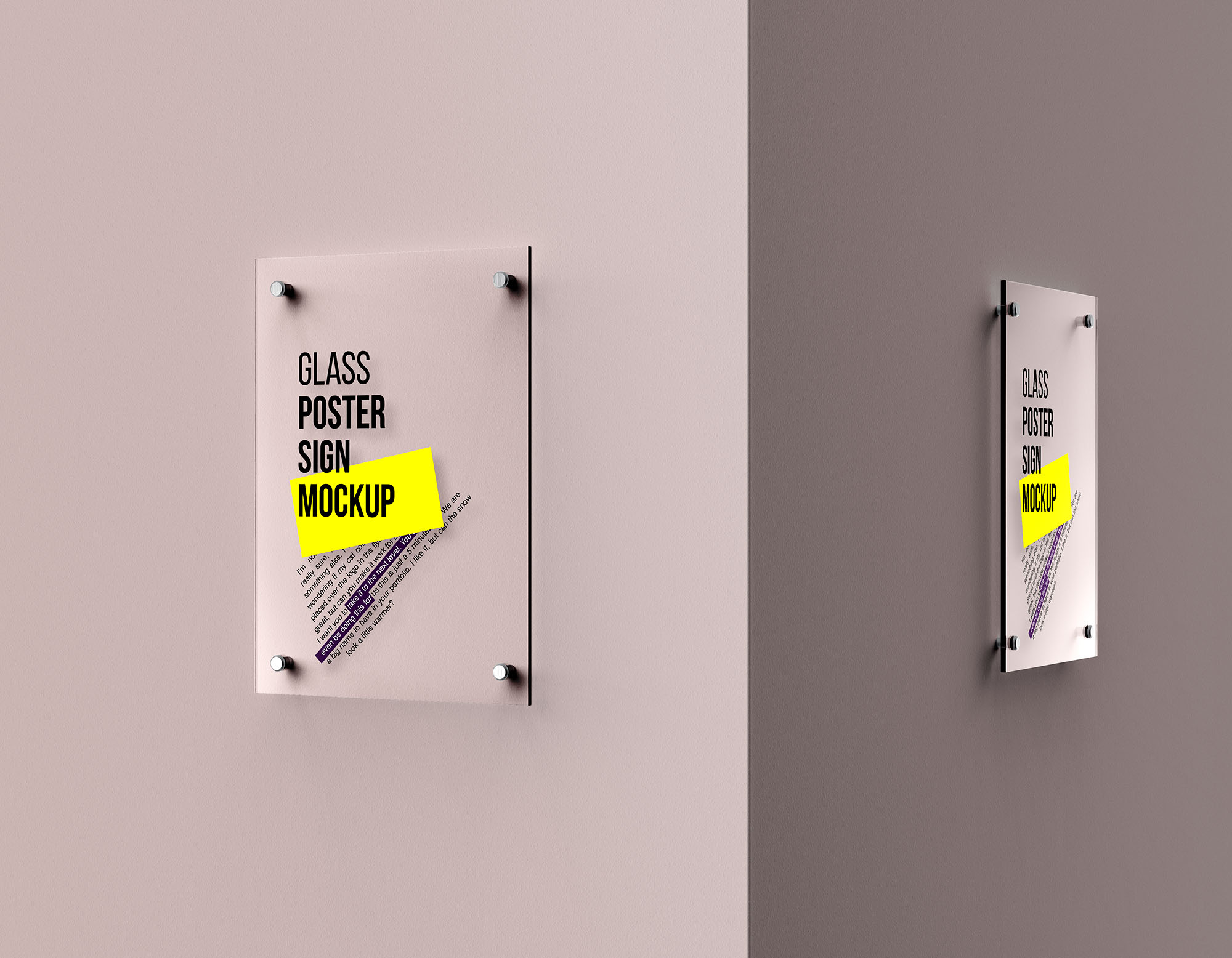 Glass Poster Mockup 7