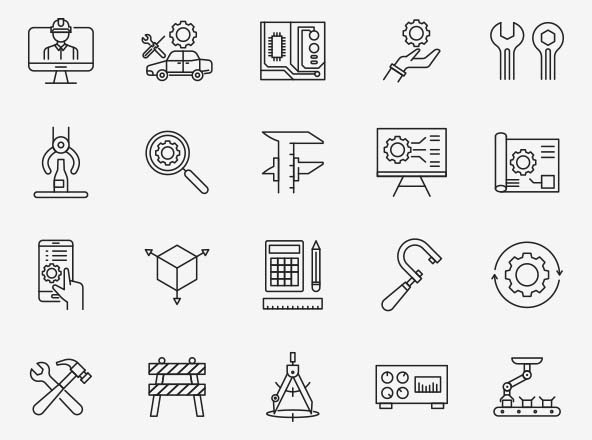 Engineering Vector Icons 02