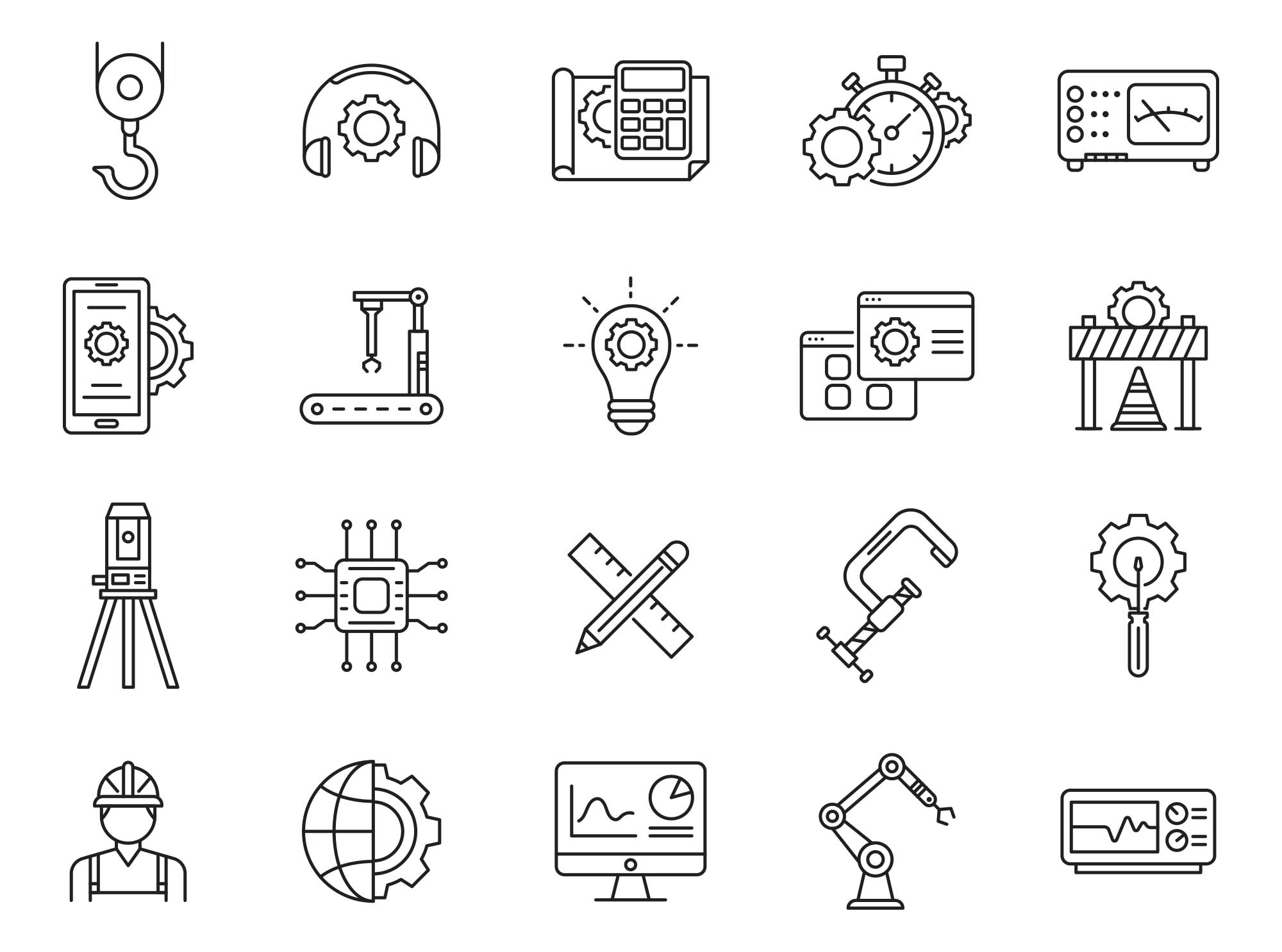Engineering Vector Icons 03