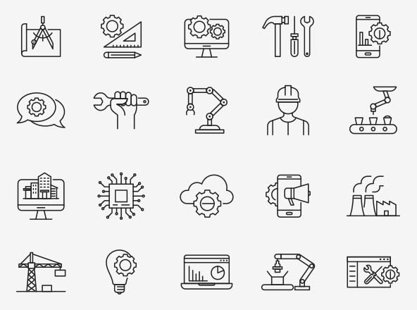 Engineering Vector Icons 04