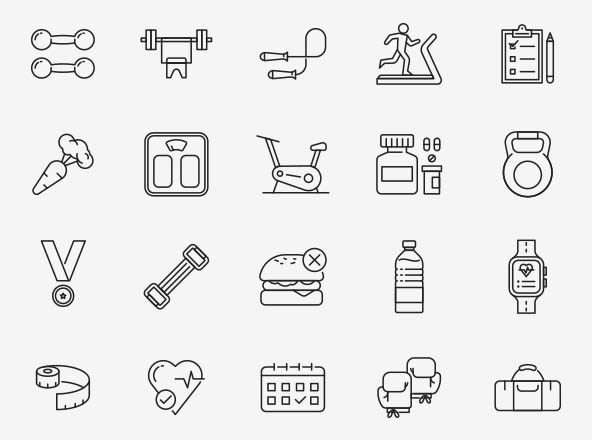 Fitness Vector Icons Part 02