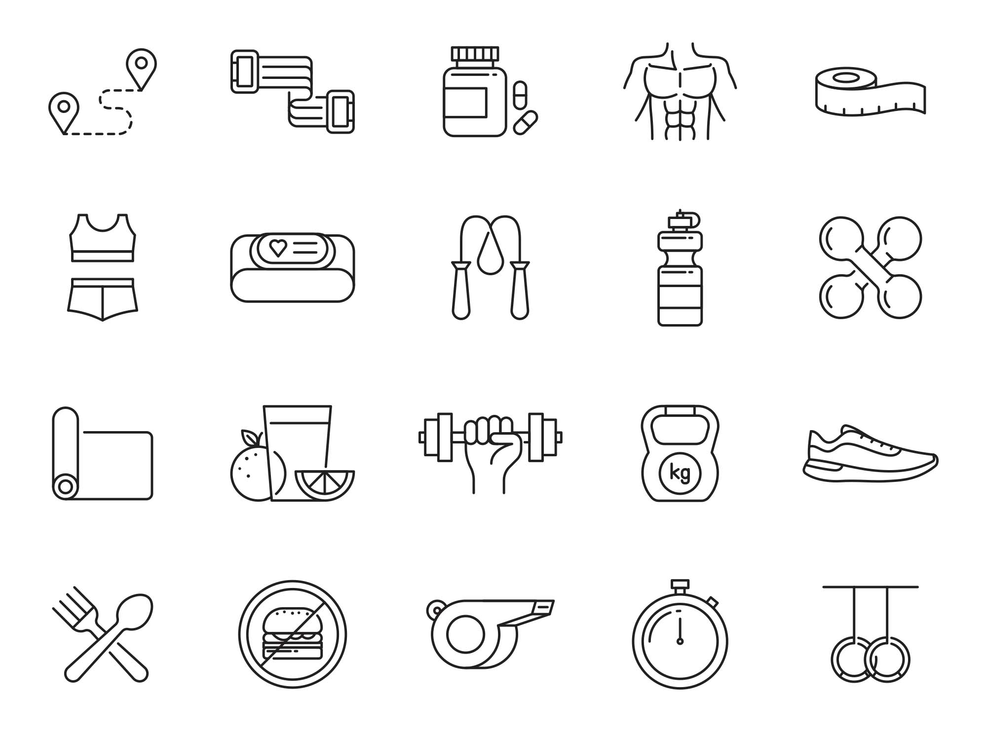 Fitness Vector Icons Part 03