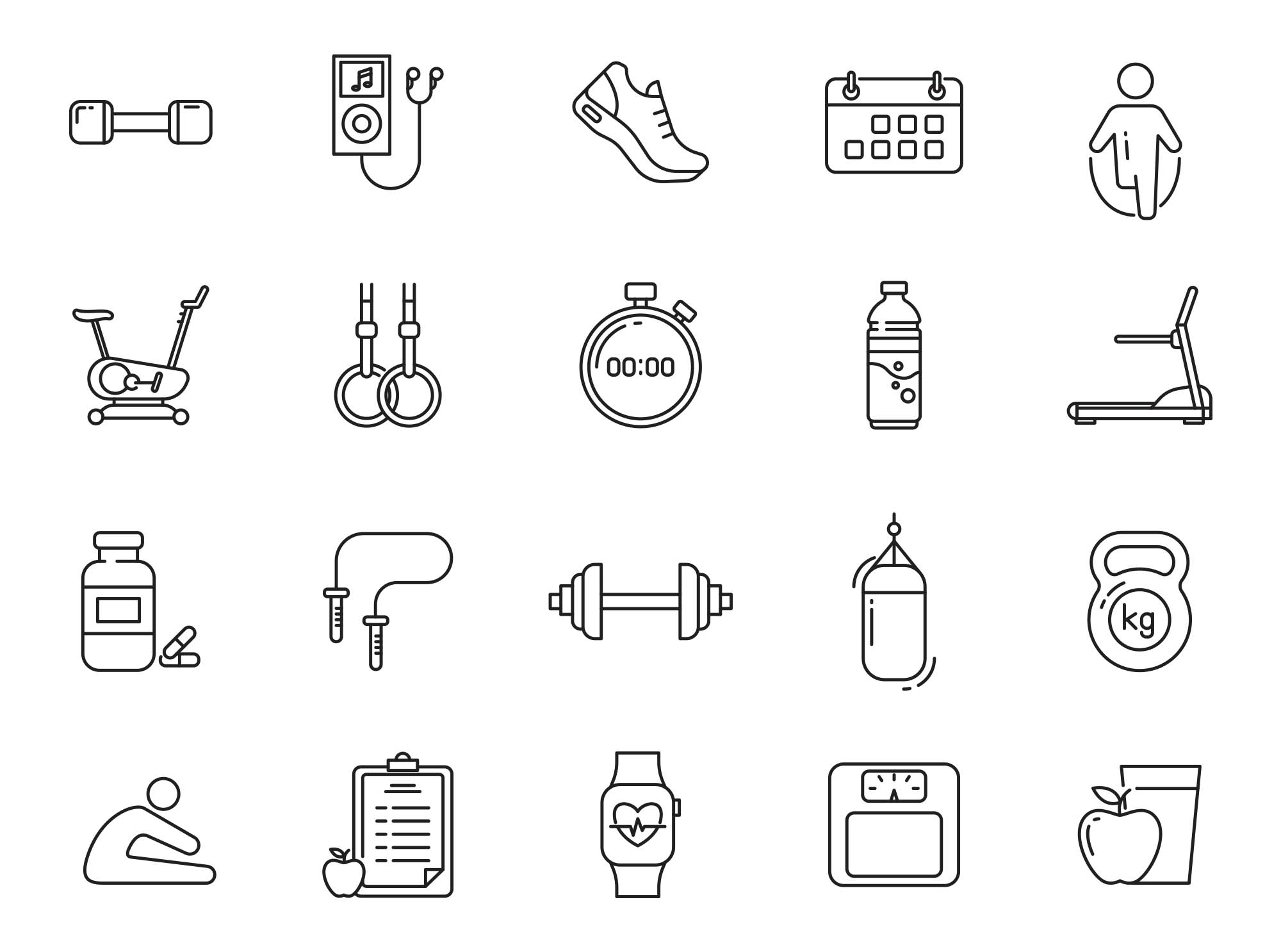 Fitness Vector Icons Part 04