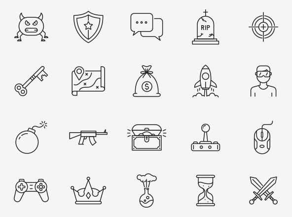 Gaming Vector Icons Part 03
