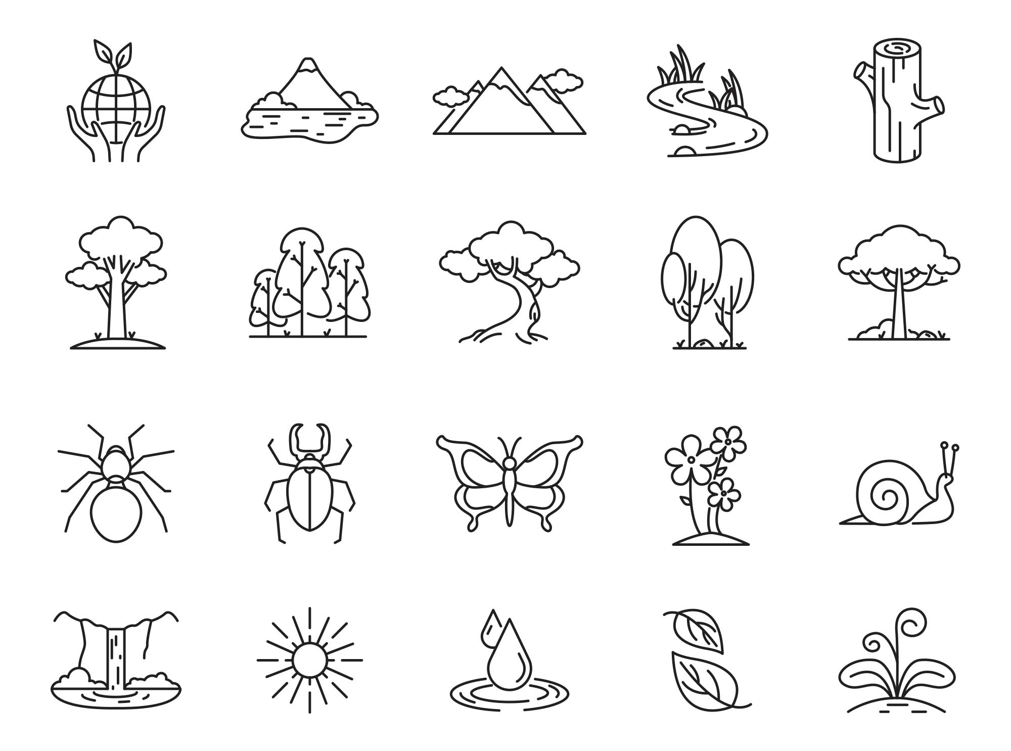 Nature Vector Icons Part 01