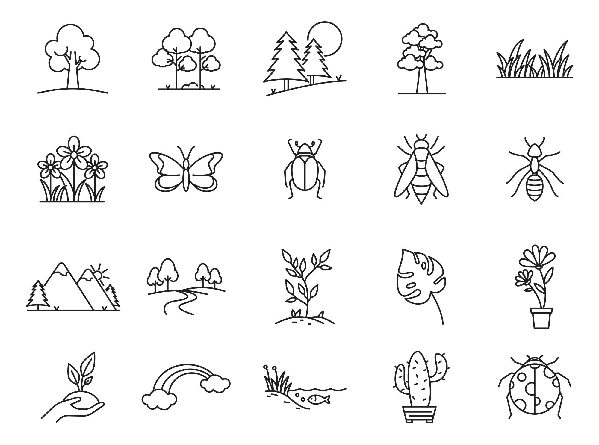 Nature Vector Icons Part 03