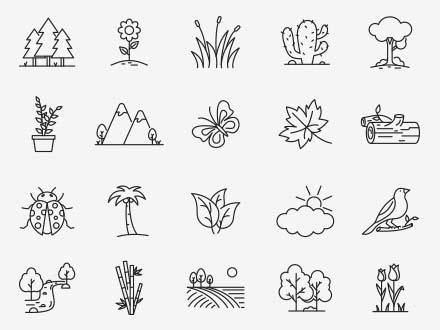 Nature Vector Icons Part 04
