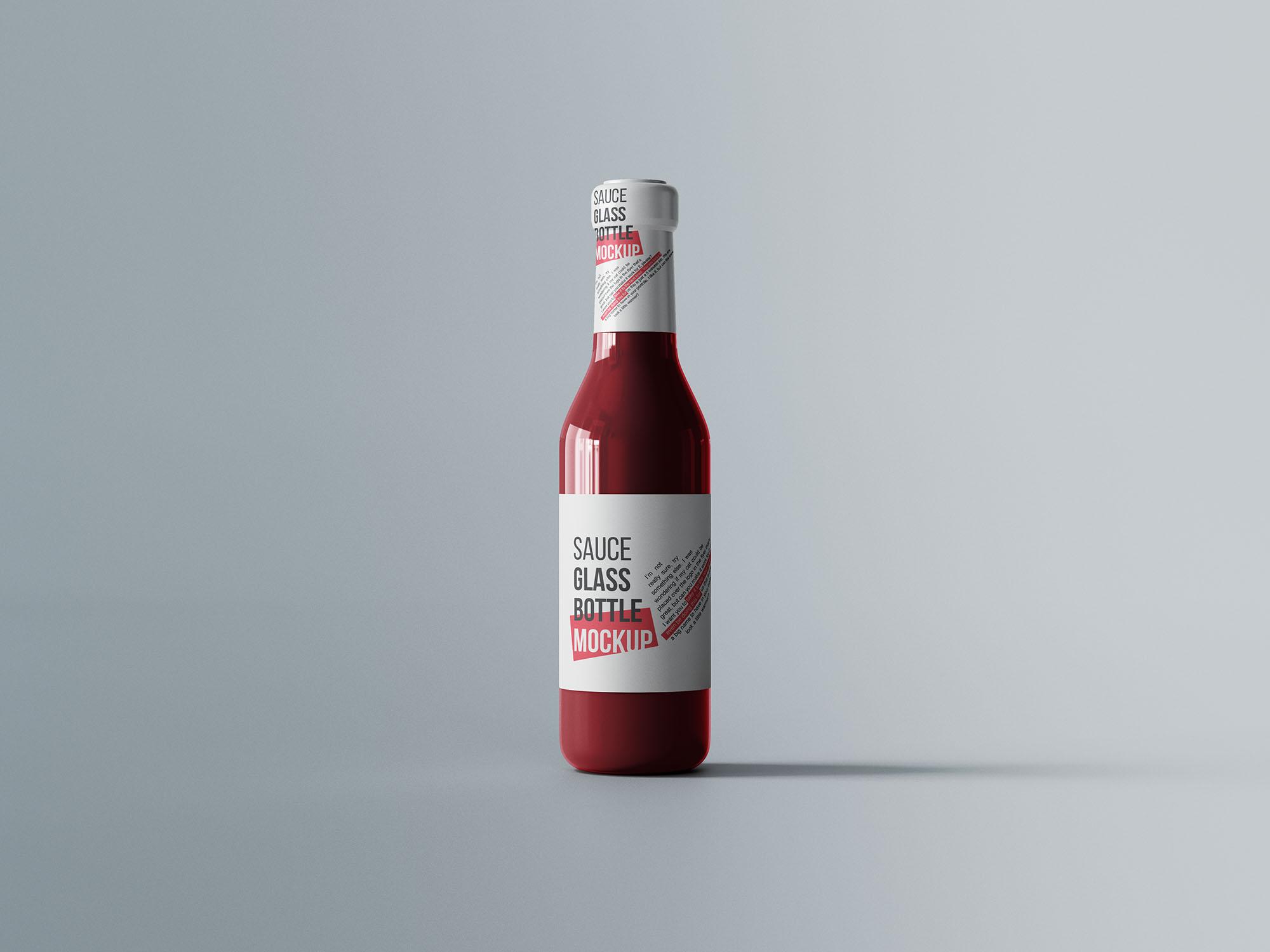 Sauce Glass Bottle Mockup